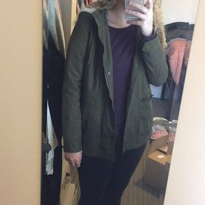 Forever 21 green utility jacket